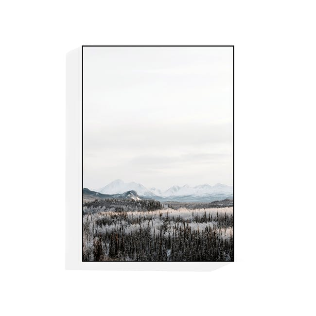 Scenery Portrait in Wooden Frame 50cm by 70cm - Woodland - 0
