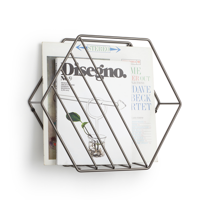 Zina Magazine Rack & Record Holder - Image 1