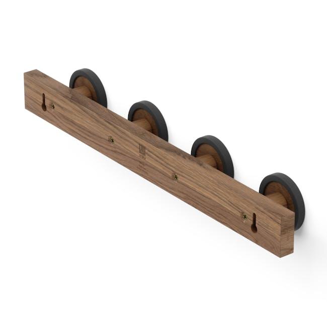 Hub Rail Wall Hook - Black, Walnut - 2