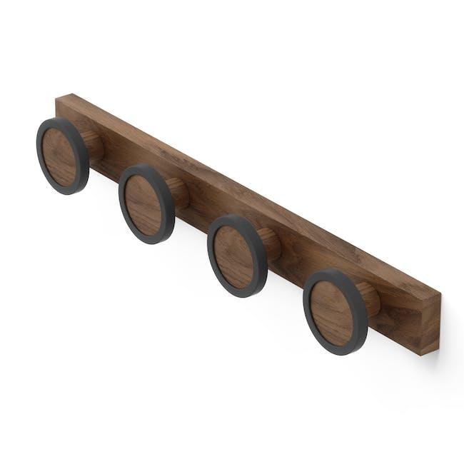 Hub Rail Wall Hook - Black, Walnut - 1