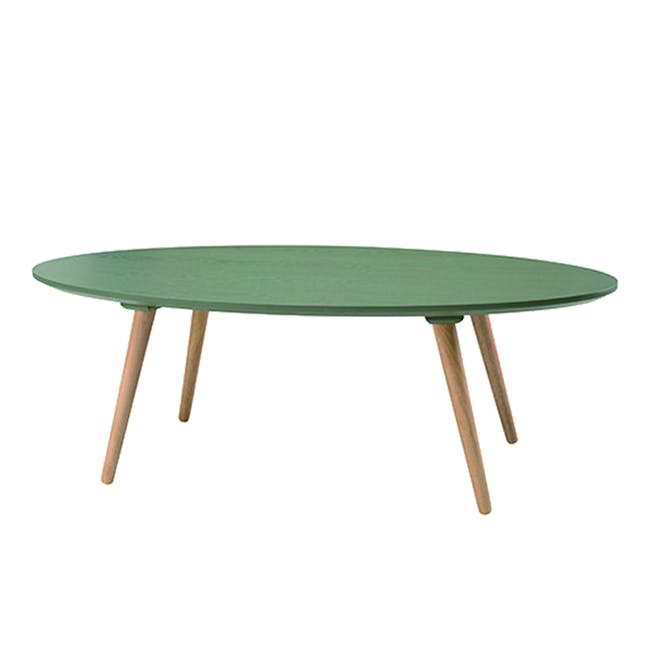Carsyn Oval Coffee Table - Pickle Green - 0