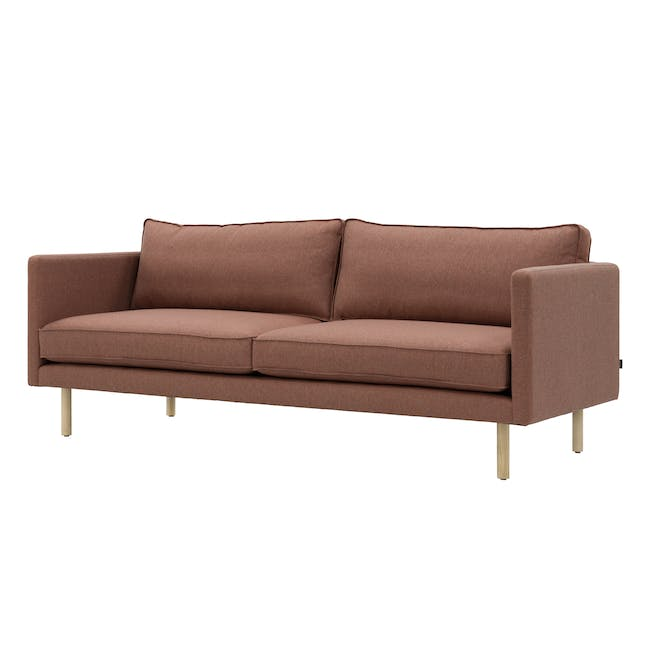 Rexton 3 Seater Sofa - Rosy Brown (Fabric), Down Feathers - 3