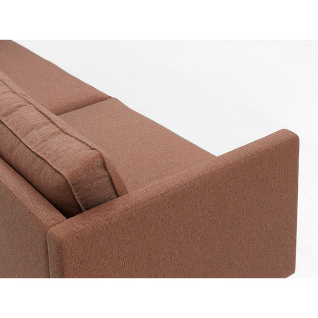 Rexton 3 Seater Sofa - Rosy Brown (Fabric), Down Feathers - 7