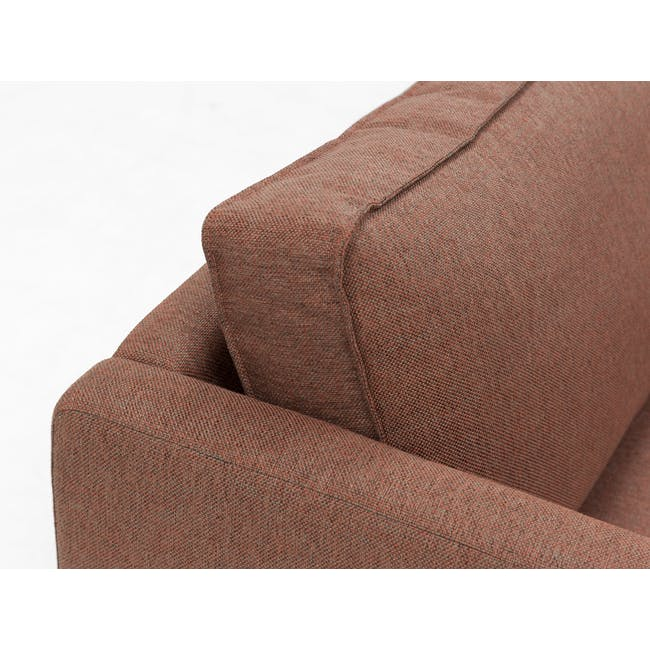 Rexton 3 Seater Sofa - Rosy Brown (Fabric), Down Feathers - 2