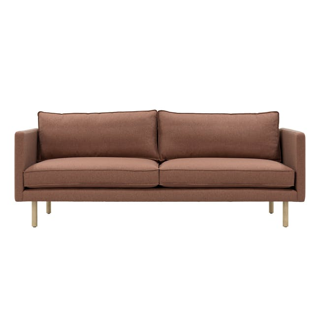 Rexton 3 Seater Sofa - Rosy Brown (Fabric), Down Feathers - 0
