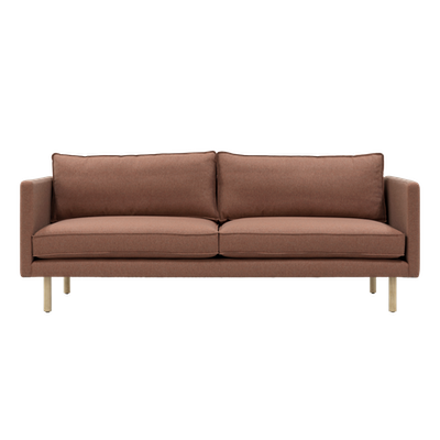Rexton 3 Seater Sofa - Rosy Brown, Down Feathers - Image 1