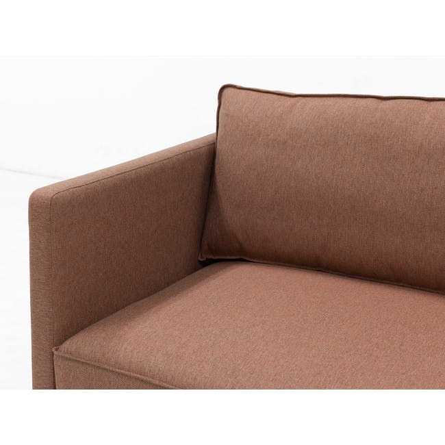 Rexton 3 Seater Sofa - Rosy Brown (Fabric), Down Feathers - 6