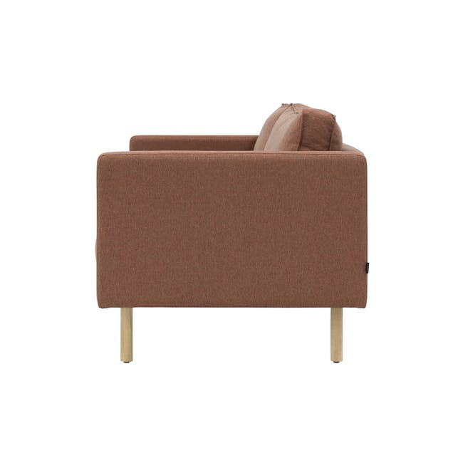Rexton 3 Seater Sofa - Rosy Brown (Fabric), Down Feathers - 5