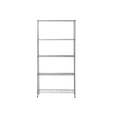 5-Tier Multi Utility Shelf L90 cm - Chrome - Image 2