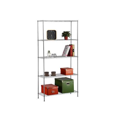 5-Tier Multi Utility Shelf L90 cm - Chrome - Image 1