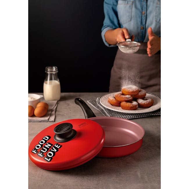 Tramontina My Lovely Kitchen 24cm Frying Pan with lid - 1