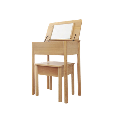 Bella Dressing Table with Storage Stool - Image 2