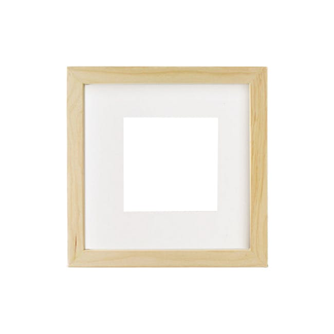12-Inch Square Wooden Frame - Natural - 0