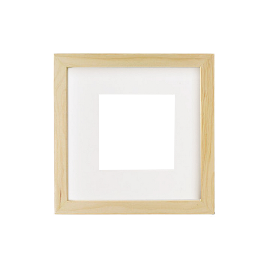 12-Inch Square Wooden Frame - Natural - Image 1
