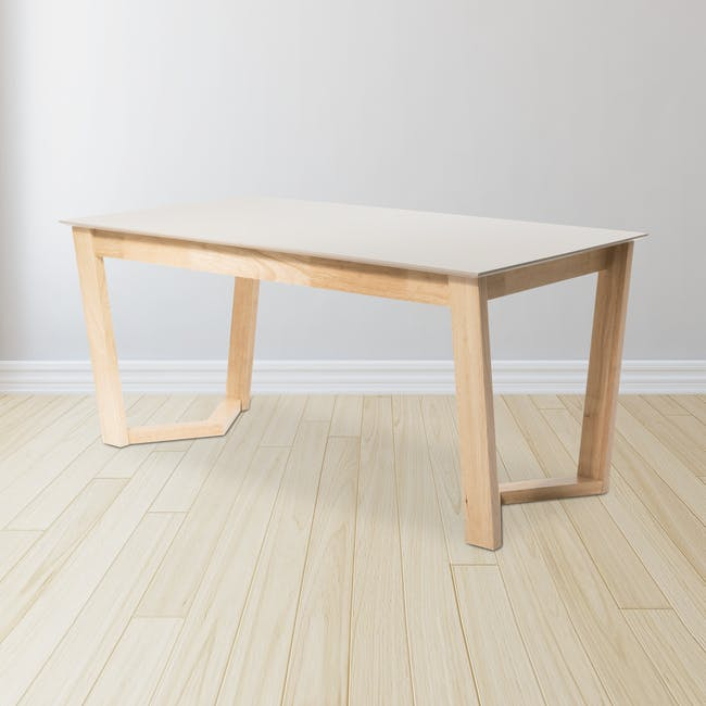 Meera Extendable Dining Table 1.6m - Natural, Taupe Grey - 19