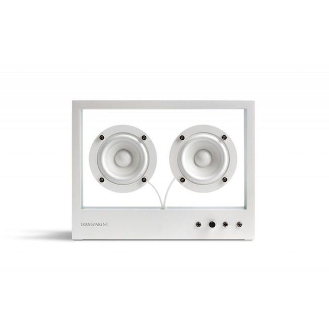 Small Transparent Speaker - White - 0