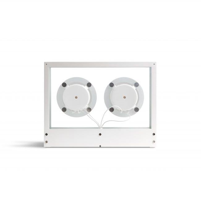 Small Transparent Speaker - White - 3