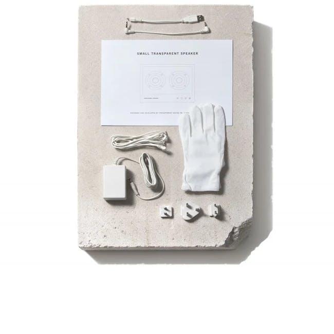 Small Transparent Speaker - White - 5