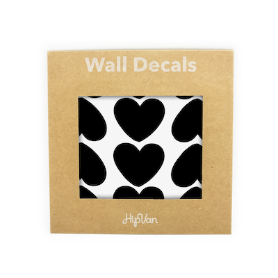 Peaches Heart Wall Decal (Pack of 60) - Black - Image 1