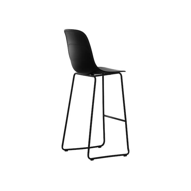 Lyon Bar Chair - Black, Carbon - 2