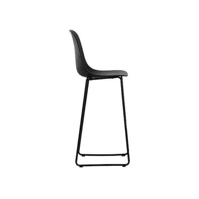 Lyon Bar Chair - Black, Carbon - 1