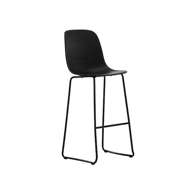 Lyon Bar Chair - Black, Carbon - 0