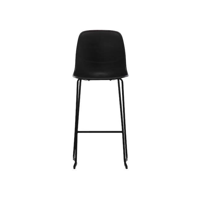 Lyon Bar Chair - Black, Carbon - 3