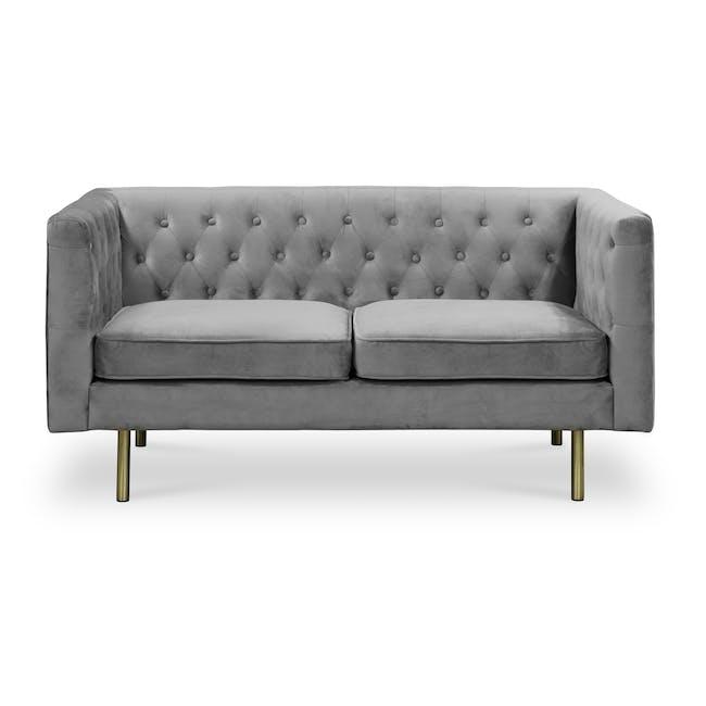 Cadencia 2 Seater Sofa - Anchor Grey (Velvet) - 0