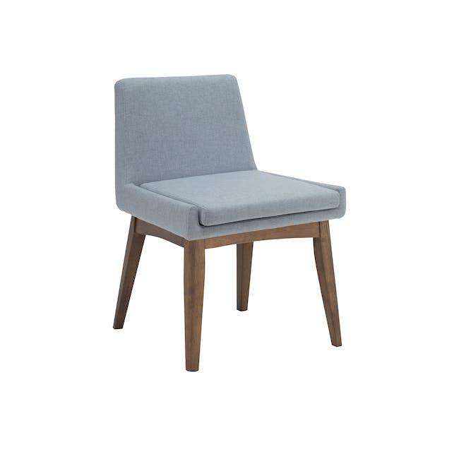 Fabian Dining Chair - Cocoa, Aquamarine - 0