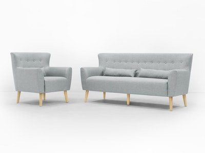 Sofia 3 Seater Sofa and Sofia Armchair - Image 2