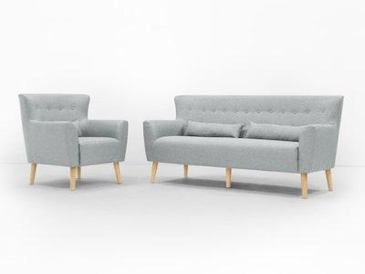 Sofia 3 Seater Sofa and Sofia Armchair - Image 2