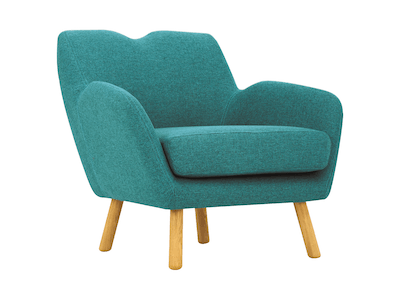 Joanna Lounge Chair - Nile Green