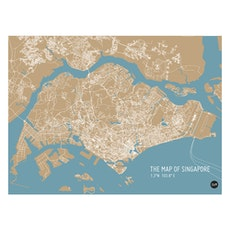 Map of Singapore - Bronze