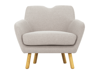 Joanna 1 Seater Sofa - Pale Silver