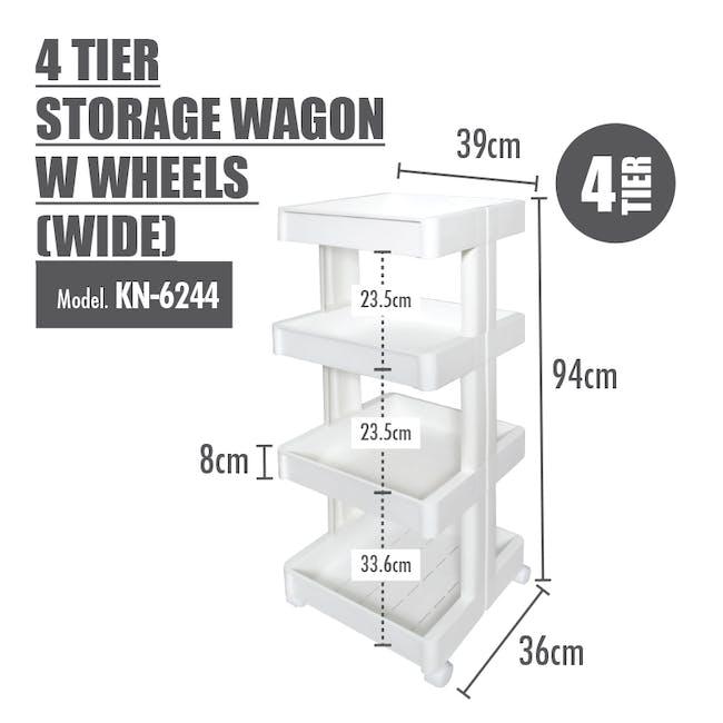4 Tier Storage Wagon with Wheels - Wide - 1