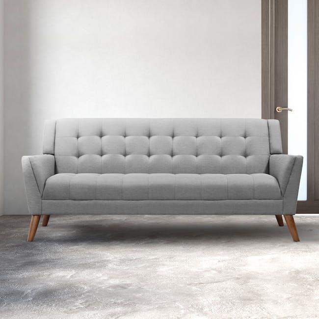 Stanley 3 Seater Sofa - Siberian Grey - 1