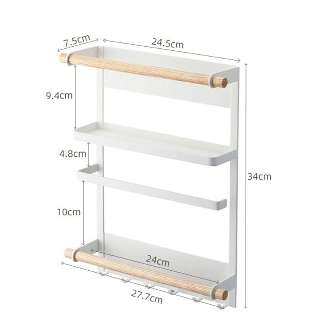 Cyril Magnetic Rack - White - 2