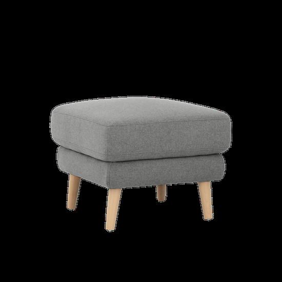 Jacob Ottoman Slate Premium Sofa By Hipvan Hipvan