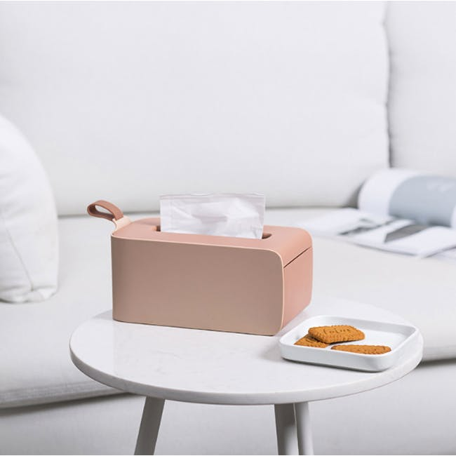 Clyde Tissue Box - Terracotta - 3