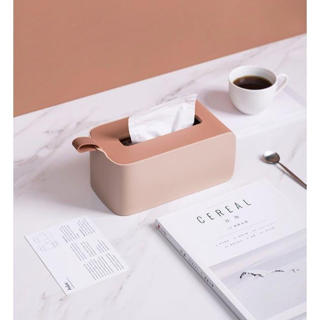 Clyde Tissue Box - Terracotta - 1