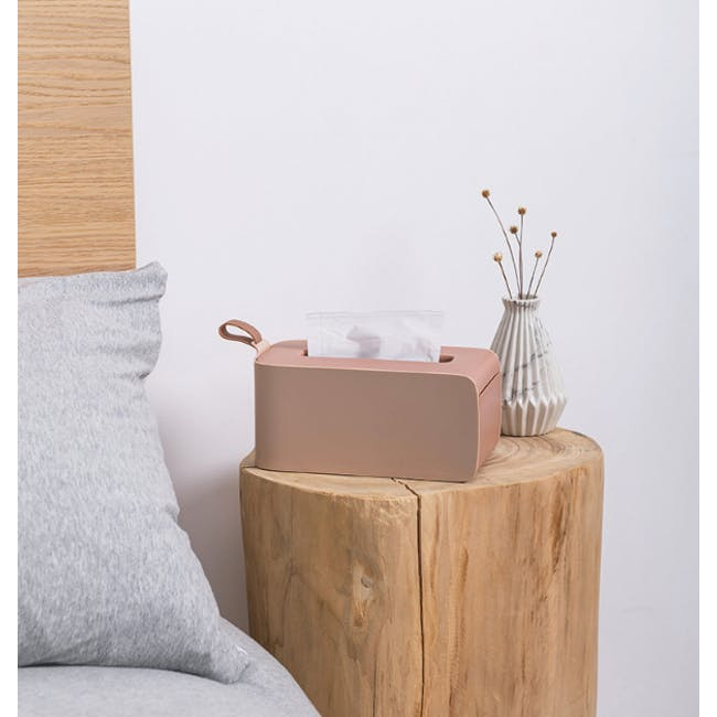 Clyde Tissue Box - Terracotta - 2