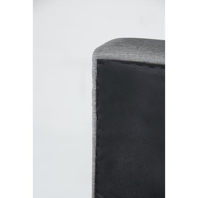 ESSENTIALS Queen Headboard Box Bed - Denim (Fabric) - 7