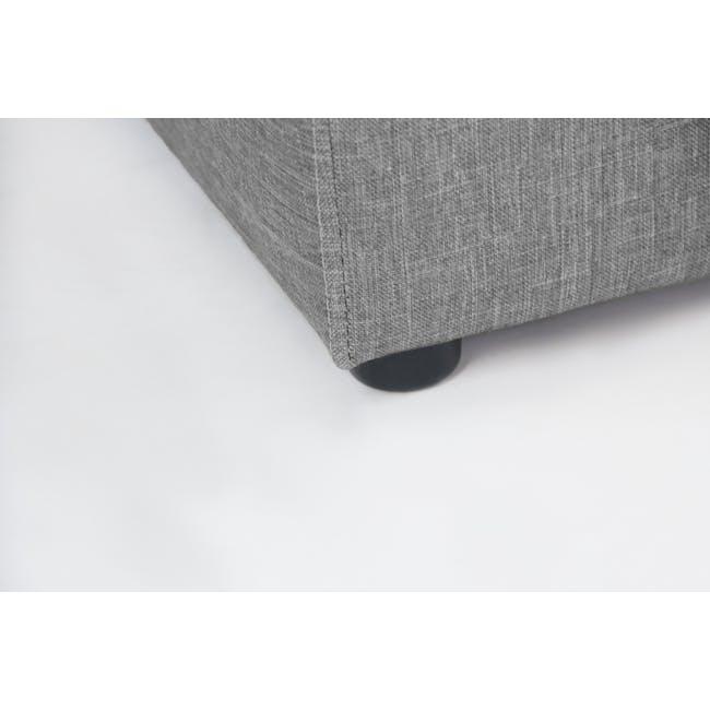 ESSENTIALS Queen Headboard Box Bed - Denim (Fabric) - 11