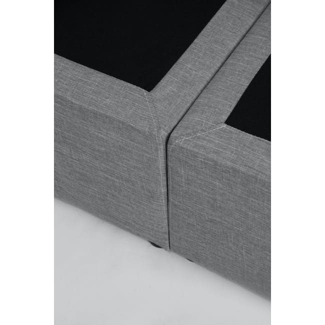 ESSENTIALS Super Single Headboard Box Bed - Denim (Fabric) - 9