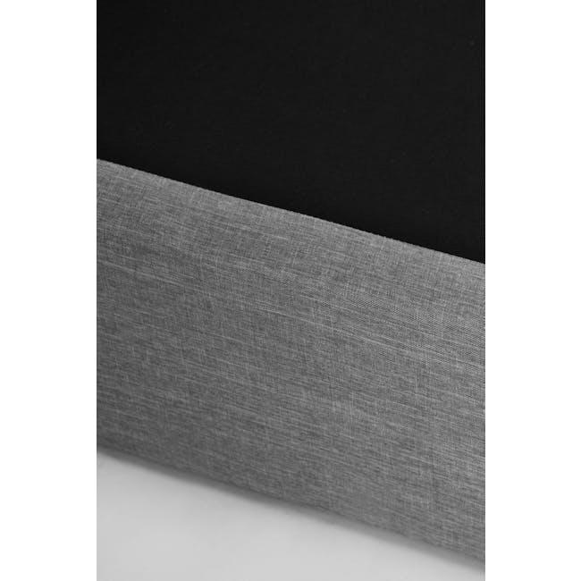 ESSENTIALS Super Single Headboard Box Bed - Denim (Fabric) - 10