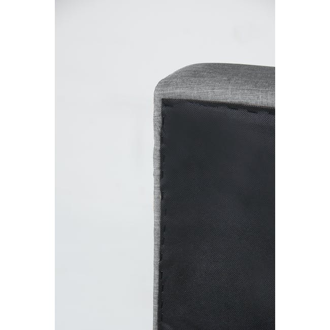 ESSENTIALS King Headboard Box Bed - Grey (Fabric) - 7