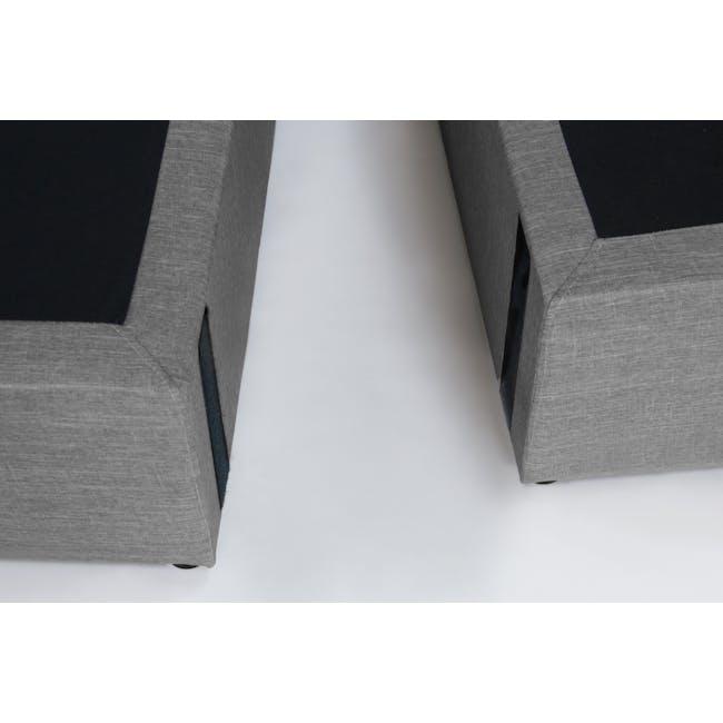 ESSENTIALS King Headboard Box Bed - Grey (Fabric) - 8