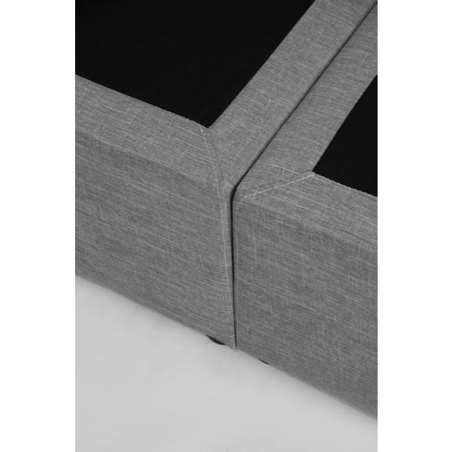 ESSENTIALS King Headboard Box Bed - Grey (Fabric) - 9