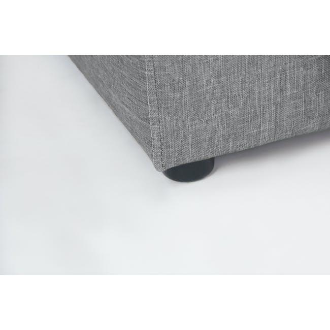 ESSENTIALS King Headboard Box Bed - Grey (Fabric) - 11