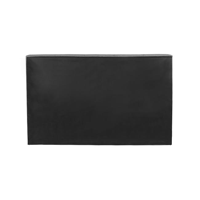 ESSENTIALS King Headboard Box Bed - Grey (Fabric) - 4